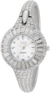 [バージ]Burgi  Round Diamond Crystal Silvertone Bangle Quartz Watch BU40SS レディース