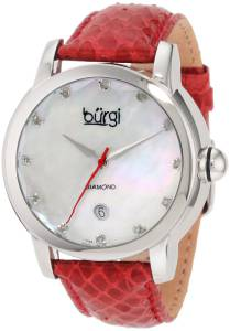 [バージ]Burgi 腕時計 Round Swiss Quartz Diamond Date Strap Watch BU14R レディース