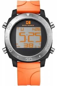 [ヒューゴボス]HUGO BOSS  Orange Digital Dial Orange Rubber Strap Watch 1512674 メンズ