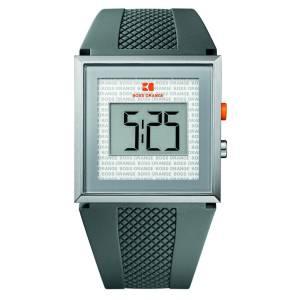 [ヒューゴボス]HUGO BOSS 腕時計 Rubber LCD Watch Grey Boss Orange メンズ