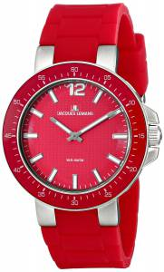 [ジャックルマン]Jacques Lemans Milano Analog Display Quartz Red Watch 1-1709D 1-1709D
