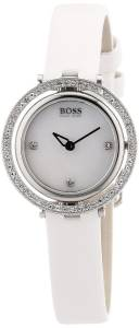 [ヒューゴボス]HUGO BOSS 腕時計 Black Edition Mother of Pearl White Leather Watch 1502278