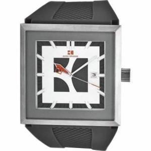 [ヒューゴボス]HUGO BOSS  Orange Grey Dial Black Silicone Strap 1512703 Hug-4857 メンズ
