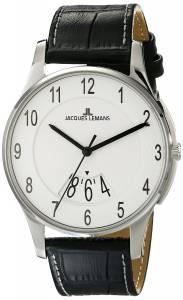 [ジャックルマン]Jacques Lemans  London Analog Display Quartz Black Watch 1-1746B メンズ