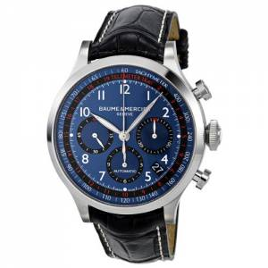 [ボーム&メルシエ]Baume & Mercier Baume and Mercier Blue Dial Chronograph Automatic M0A10065
