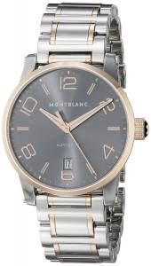[モンブラン]MONTBLANC  Timewalker Date Automatic Grey Dial Steel Rose Gold Swiss Watch 106501