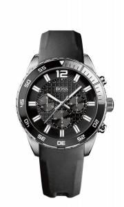 [ヒューゴボス]HUGO BOSS 腕時計 Black Dial Black Rubber Watch 1512804 メンズ