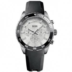 [ヒューゴボス]HUGO BOSS 腕時計 Deep Blue Silver Dial Black Strap Watch 1512805 メンズ