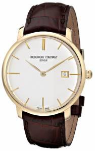 [フレデリックコンスタント]Frederique Constant Slim Line GoldTone Watch with FC306V4S5
