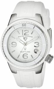[スイスレジェンド]Swiss Legend  Neptune White Dial White Silicone Watch 11840P-02-WHT