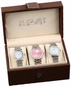 [オーガストシュタイナー]August Steiner Dazzling Diamond Swiss Quartz 3 Watch Set AS8063SS