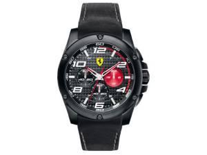 スクーデリア フェラーリ Paddock Mens Chronograph Leather Sports Watch 0830030