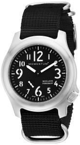 [モーメンタム]Momentum  Base Layer Analog Display Japanese Quartz Black Watch 1M-SP76B7B