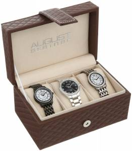 [オーガストシュタイナー]August Steiner  Dazzling DiamondAccented Watch Set AS8063BK