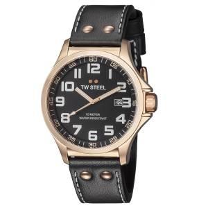 [ティーダブルスティール]TW Steel 腕時計 Rose Gold PVD Watch TW417 Pilot メンズ