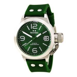 [ティーダブルスティール]TW Steel Canteen Fashion Analog Display Quartz Green Watch TW505