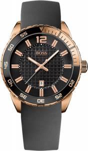 [ヒューゴボス]HUGO BOSS 腕時計 Black Dial Black Rubber Strap Watch 1512886 メンズ