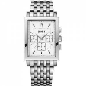 [ヒューゴボス]HUGO BOSS  Chronograph White Dial Stainless Steel Watch 1512851 メンズ