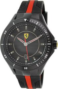 [フェラーリ]Ferrari  Scuderia SF103 Black Red Race Day Rubber Watch NEW 0830079 メンズ