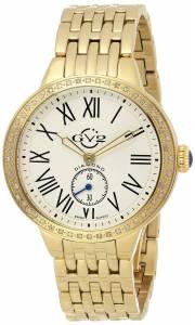 [ジェビル]GV2 by Gevril  Astor DiamondStudded Gold IonPlated Stainless Steel Watch 9101