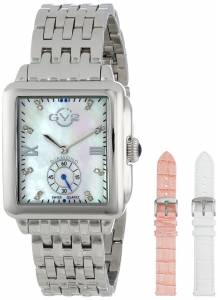 [ジェビル]GV2 by Gevril Bari DiamondAccented Stainless Steel Bracelet Watch with Two Extra 9200
