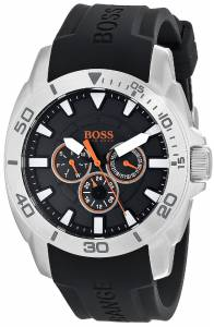 [ヒューゴボス]HUGO BOSS  BOSS Orange Stainless Steel and Silicone Casual Watch 1512950
