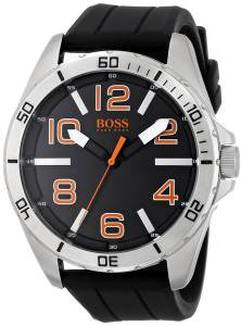 [ヒューゴボス]HUGO BOSS  BOSS Orange Big Time Analog Display Quartz Black Watch 1512943