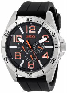 [ヒューゴボス]HUGO BOSS BOSS Orange Big Time Stainless Steel Watch with Black Silicone 1512945