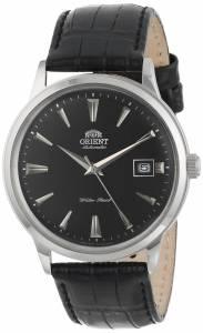 [オリエント]Orient Bambino Stainless Steel Automatic Watch with Black Leather Band FER24004B0