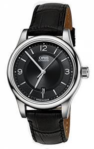 [オリス]Oris Classic Date Black Dial Black Leather Watch 01 733 7594 403407 5 20 733-7594-4034-LS