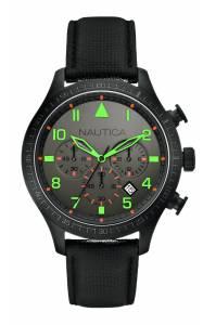 [ノーティカ]Nautica 腕時計 Watch, Strap Leather Color Black A18686G メンズ