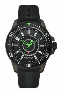 [ノーティカ]Nautica 腕時計 NST 15 A15640G Watch Black Rubber Strap N15640G メンズ
