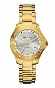 [ノーティカ]Nautica  A15639m NAC 102 Gray Dial Yellow Gold Watch N15639M レディース