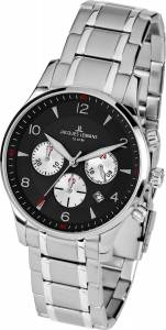 [ジャックルマン]Jacques Lemans 11654I 40mm Silver Steel Bracelet & Case Mineral Watch 1-1654I