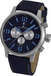 [ジャックルマン]Jacques Lemans  11794G 49mm Stainless Steel Case Canvas Mineral Watch Porto