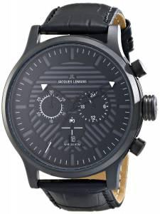 [ジャックルマン]Jacques Lemans  Porto Analog Display Quartz Black Watch 1-1795E メンズ