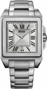 [ヒューゴボス]HUGO BOSS 腕時計 Square Stainless Steel Watch 1512799 メンズ
