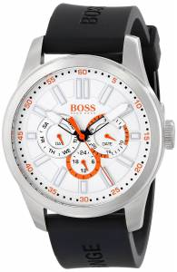 [ヒューゴボス]HUGO BOSS BOSS Orange Big Up Stainless Steel Watch with Black Silicone 1512934