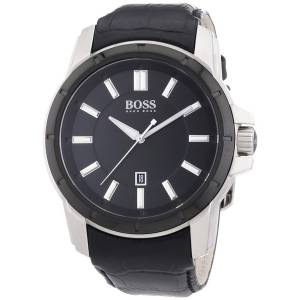 [ヒューゴボス]HUGO BOSS 腕時計 Brand New Black Dial Black Band Watch 1512922 メンズ