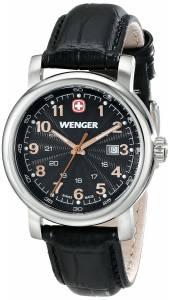 [ウェンガー]Wenger 腕時計 Analog Display Swiss Quartz Black Watch 1021.105 レディース