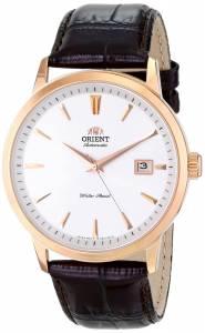 [オリエント]Orient  Symphony Stainless Steel Watch with Brown Leather Band FER27003W0