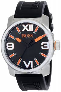 [ヒューゴボス]HUGO BOSS BOSS Orange Dubai Stainless Steel Watch with Black Silicone 1512985