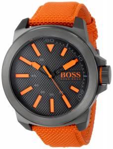 [ヒューゴボス]HUGO BOSS BOSS Orange New York Stainless Steel Watch with Orange Woven 1513010