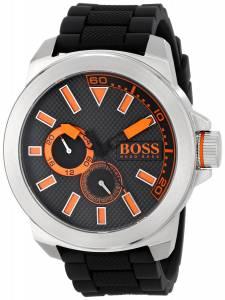 [ヒューゴボス]HUGO BOSS BOSS Orange New York Stainless Steel Watch with Black Silicone 1513011