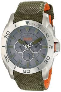 [ヒューゴボス]HUGO BOSS BOSS Orange Shanghai Stainless Steel Watch with Green Nylon 1513015