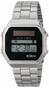 [ベスタル]Vestal  Syncratic Solar Power Digital Display Japanese Quartz Silver Watch SYNDM02