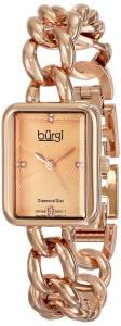 [バージ]Burgi  RoseTone Stainless Steel Watch with Link Bracelet BUR100RG レディース