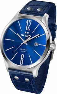 [ティーダブルスティール]TW Steel  Slim Line Blue Dial Blue Leather Watch TW1302