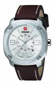 [ウェンガー]Wenger  Escort Analog Display Swiss Quartz Brown Watch 01.1051.101 メンズ