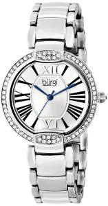 [バージ]Burgi  Crystal Silvertone Stainless Steel Bracelet Watch BUR101SS レディース